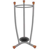 Image for Umbrella Stand Removable Drip Tray Plated Steel Wood Trim 15 Umbrellas 1.1kg