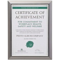 Deluxe Certificate Frame Non Glass Holds A4 Smoke