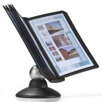 Durable Sherpa Motion Display Unit Rotating With 10 Panels 10 Tabs Black Code 5587/01
