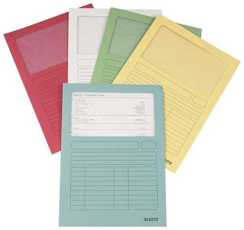 Leitz Window Folder A4 Assorted Ref 3950-99-99 [Pack 100]