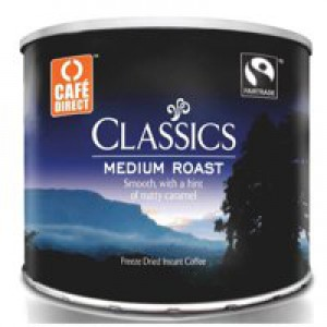 Cafe Direct Classics Instant Coffee Fairtrade Medium Roast Tin 500g Ref A02900