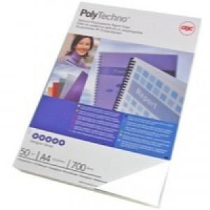 GBC Polycovers Techno Binding Covers Polypropylene 700 Micron A4 Ice White Code IB387210