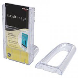 Literature Holder Connectable Modular Wall Mountable 1/3x A4 Clear