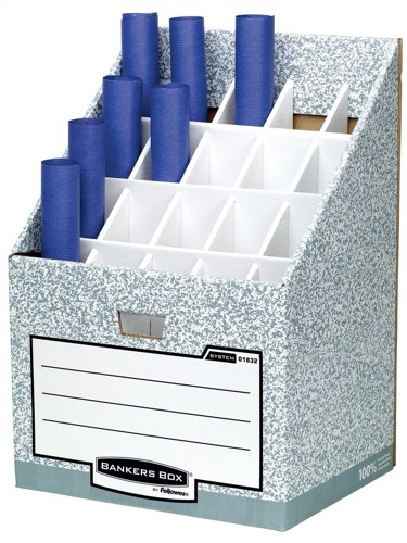 R-Kive System Roll Stor Stand for Rolled Documents Grey-White Ref 01832