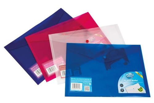 Pukka Value Stud Wallet File Polypropylene A4 Clear Pack 5