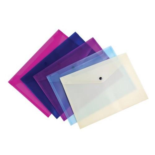 Pukka Value Stud Wallet File Polypropylene A4 Assorted Pack 5