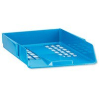 Avery Basics Letter Tray Stackable Versatile A4 Foolscap 278x390x70mm Blue Code 1132BLUE