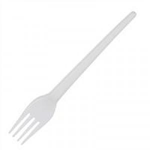 CaterX Plastic Forks White Pack 100