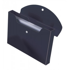 Rexel Optima Job Box Polypropylene Magnetic-seal for 400 Sheets 40mm A4 Black Ref 2102481