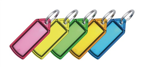 Key Hanger Sliding with Fob Label Small Assorted [Pack 100]