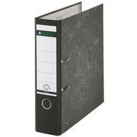 Leitz Standard Lever Arch File 80mm Spine A4 Black Ref 1080-95 [Pack 10]