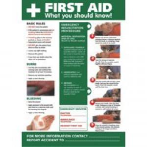 Stewart Superior First Aid Laminated Guidance Poster W420xH595mm Ref HS101