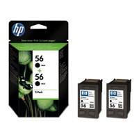 HP No.56 Inkjet Cartridges Black Twin Pack Code C9502AE