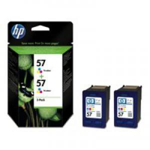 HP No.57 Inkjet Cartridges Tri-Colour Pack 2 Code C9503AE