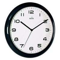 Image for Acctim Black Aylesbury Wall Clock 92/302