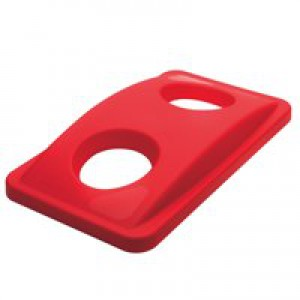 Rubbermaid Slim Jim Lid for Bottle Recycling System Red Ref 2692-88