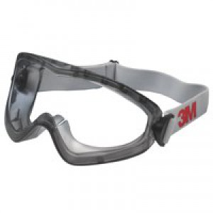 3M Safety Goggles Splash Proof Dust Resistant Anti-Mist Scratch Resistant Fully Adjustable Ref 2890S