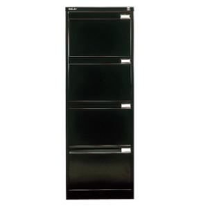 Bisley BS4E Filing Cabinet Flush Front 4 Drawer Black