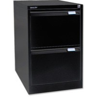 Bisley BS2E Filing Cabinet 2-Drawer H711mm Black Ref BS2E-33