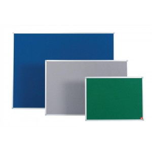5 Star Noticeboard with Fixings and Aluminium Trim W900xH600mm Blue