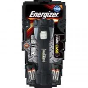 Energizer Hardcase Pro 4AA Torch 4 Super Bright LEDs 30hr Weatherproof Shatterproof Lens Ref 630060