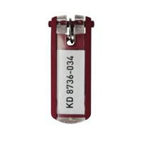 Image for Durable Key Clip Red Ref 1957-03 [Pack 6]