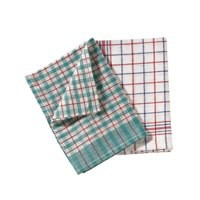 Tea Towels Chequered Pack 10