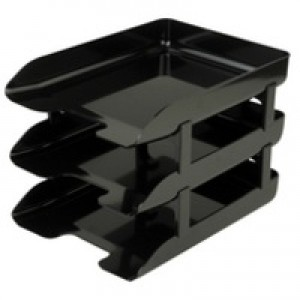 Q-Connect Black Executive Letter Tray
