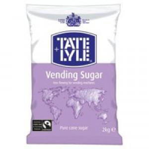 Tate and Lyle Vending Sugar Bulk Vending Bag for Dispensing Machine 2kg Code A00696