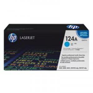 Hewlett Packard [HP] No. 124A Laser Toner Cartridge Page Life 2000pp Cyan Ref Q6001A