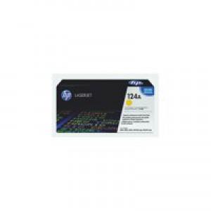 Hewlett Packard [HP] No. 124A Laser Toner Cartridge Page Life 2000pp Yellow Ref Q6002A