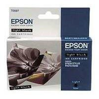 Epson T0597 Inkjet Cartridge Lilly Light Black Ref C13T05974010