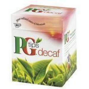 Pg Tips Decaffeinated Pyramid Tea Bag Box 80 Code A04101
