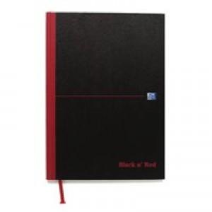 Black n Red Notebook Smart Ruled Casebound 90gsm A4 Code 100080428
