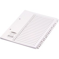 Concord Classic Index Mylar-reinforced Punched 2 Holes 1-20 A5 White Ref 07201/CS72