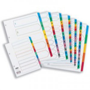 Concord Punched Pocket Index Multicolour-tabbed Europunched A-Z 20-Part Extra Wide A4 White Ref CS78