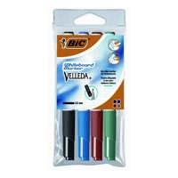Bic Velleda 1741 Whiteboard Marker Bullet Tip Line Width 1.4mm Assorted Pack 4 Code 119900174