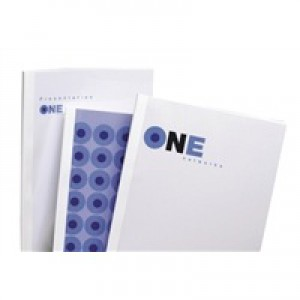 GBC A4 Thermal Binding Covers 1.5mm 200gsm PVC/Gloss Back Clear/White Pack 100 Code IB370014