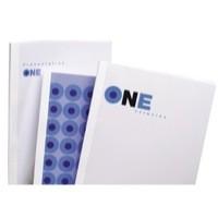 GBC A4 Thermal Binding Covers 4mm 200gsm PVC/Gloss Back Clear/White Pack 100 Code IB370038