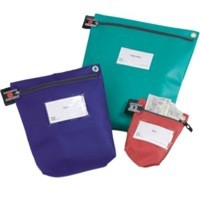 Versapak Cash Bag Tamper-Evident Zip Heavyweight Material Medium W267xD50xH267mm Blue Ref CCB1-BLS