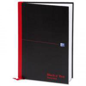 Black n Red Book Casebound Recycled 90gsm 192 Pages A4 Code 100080530