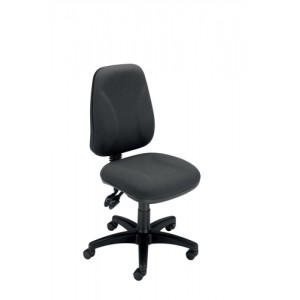 Trexus Intro High Back Permanent Contact Chair Seat W490xD450xH440-560mm Back H490mm Charcoal