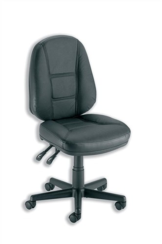 Trexus Intro Operators Chair PCB High Back H490mm Seat W490xD450xH440-560mm Leather