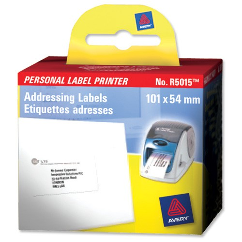 Avery Label Printer Roll Addressing Labels 101x54mm Ref R5015 [Roll of 220]