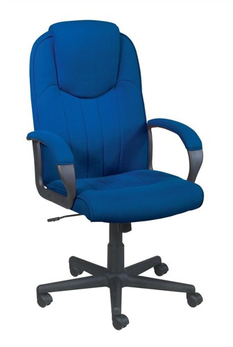 Trexus Intro Managers Armchair High Back 690mm Seat W520xD470xH440-540mm Blue