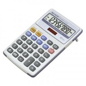 Sharp EL-334FB Calculator Tax Desktop Battery/Solar-power 10 Digit