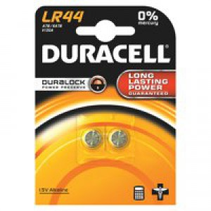 Duracell Battery Alkaline for Calculator or Pager 1.5V Ref LR44 [Pack 2]