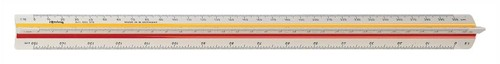 Rotring Ruler Triangular Reduction Scale 1 Architect 1-10 to 1-1250 2 Colr Flutings Code S0220481