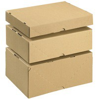 Box & Lid A4 305x215x100mm Brn Pk10