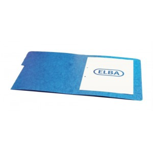 Elba Organiser File Pressboard Elasticated 5-Part Foolscap Blue Ref 100090166 [Pack 5]